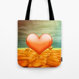 Heartrain Tote Bag