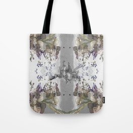 Halftone X-ray Floral Tote Bag