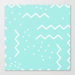 Abstract Memphis Minimalistic Geometric Shapes Canvas Print