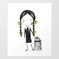 Wednesday Addams Illustrated Art Print