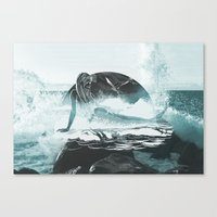 mermaid Canvas Prints featuring Mermaid by fly fly away