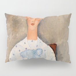 "Amedeo Modigliani ""Girl with a Polka-Dot Blouse (Jeune fille au corsage à pois)"" Pillow Sham"