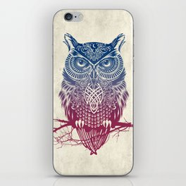 Evening Warrior Owl iPhone Skin