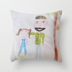 Me and my daddy Throw Pillow