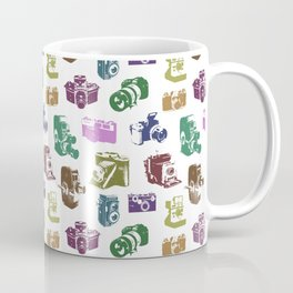 Vintage Multicolor Cameras Coffee Mug