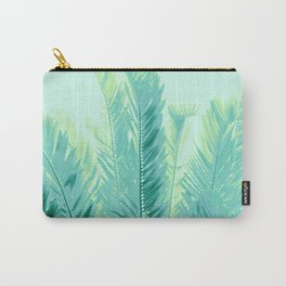 Tropical Leaves Dream #1 #tropical #decor #art #society6 Carry-All Pouch