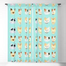 miss kitty pattern Blackout Curtain
