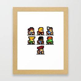 Minimalistic - Street Fighter - Pixel Art Framed Art Print