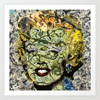 marylin monroe Art Prints featuring MARYLIN MONROE POLLOCK by JANUARY FROST