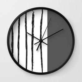 Mineral Slate | Modern Watercolor Wall Clock