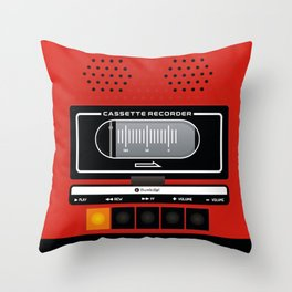 red recorder Throw Pillow