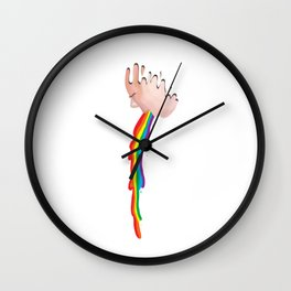 Rainbow Puke Wall Clock