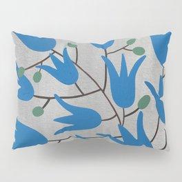 Blue Bell – Scandinavian folk art - Blue Bell Floral Pillow Sham