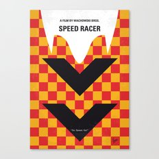 No482 My Speed Racer minimal movie poster Canvas Print