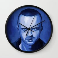 jesse pinkman Wall Clocks featuring Jesse Pinkman by Richtoon