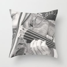 The Note Waltz Throw Pillow