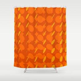 elipse grid pattern_orange Shower Curtain