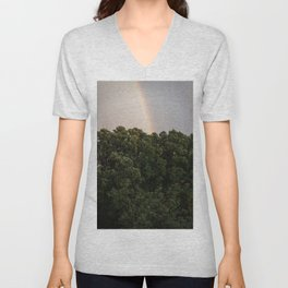 This Phenomenon is caused by Reflection, Refraction and Dispersion Unisex V-Neck