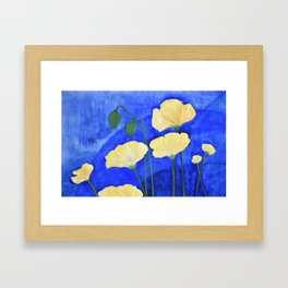 Yellow Poppies Framed Art Print