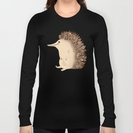 Happy Hedgehog Sketch Long Sleeve T-shirt