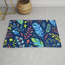Feathers Pattern 02 Rug