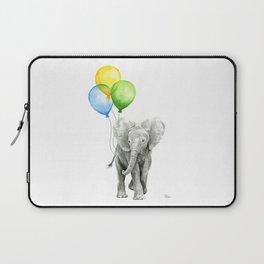 Elephant with Three Balloons Laptop Sleeve