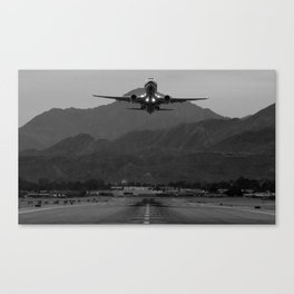 Alaska Airlines Palm Springs Takeoff Canvas Print