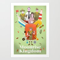 moonrise kingdom Art Prints featuring Moonrise Kingdom by Wharton