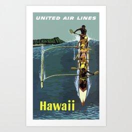 Vintage Airline Travel Poster - Hawaii Art Print