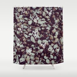 charcoal seashell pattern Shower Curtain