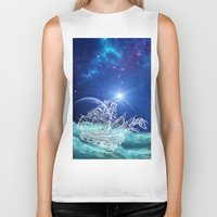neverland Biker Tanks featuring To Neverland by Cat Milchard