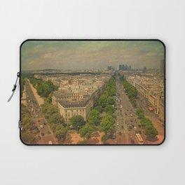Avenue De Champs Elysees in Paris Laptop Sleeve