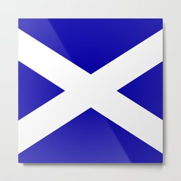 Scottish Flag Metal Print