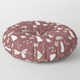 Woodland - Cranberry Floor Pillow