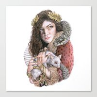 lorde Canvas Prints featuring Lorde by Susan Lewis