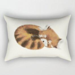 Baby Red Panda (Off-White) Rectangular Pillow