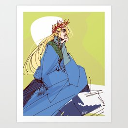 Thranduil Sketch Art Print