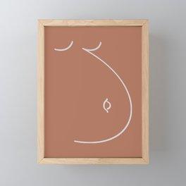Happy Belly Line Art Framed Mini Art Print