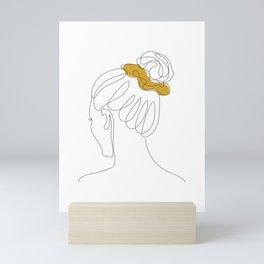 Scrunchie Girl Mini Art Print