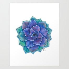 Purple Succulent Plant Art Print