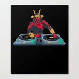 Samurai DJ - Japanese, Japan, Disco Canvas Print