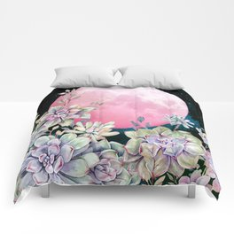 succulent full moon 3 Comforters
