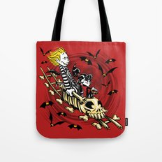 Calvydia and Beetlehobbes Tote Bag