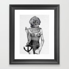 Sunken Framed Art Print
