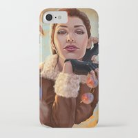 tomb raider iPhone & iPod Cases featuring Tomb Raider: Bomber Jacket by LaraRobsGraves