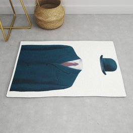 Man In a Bowler Hat by Rene Magritte, Artwork For Prints, Posters, Tshirts, Bags, Men Women, Kids Rug