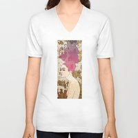 spirit V-neck T-shirts featuring Spirit by Kimball Gray