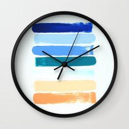 Beach Stripes Wall Clock