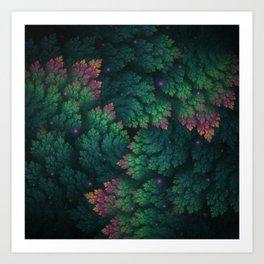 Cosmic Flora Art Print