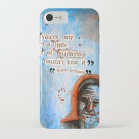 robin williams iPhone & iPod Cases featuring Robin Williams Poster/Quote by ☼LinziexDiane